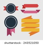 vector ribbons and labels | Shutterstock .eps vector #243521050