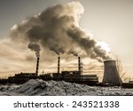 Factory Pollutes The Atmospher...