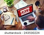 sale discount promotion... | Shutterstock . vector #243530224