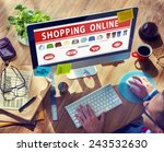 digital online shopping e... | Shutterstock . vector #243532630