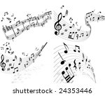 musical designs sets with... | Shutterstock .eps vector #24353446