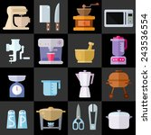kitchen utensils flat icons....