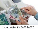 money on the cash registers... | Shutterstock . vector #243546520