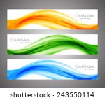 abstract wavy orange green blue ... | Shutterstock .eps vector #243550114