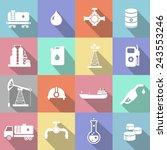 oil industry petrol gasoline... | Shutterstock . vector #243553246
