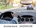 driving car in the sunny... | Shutterstock . vector #243554158