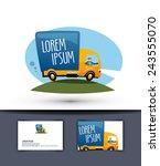 delivery vector logo design... | Shutterstock .eps vector #243555070