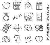 love icon | Shutterstock .eps vector #243556450