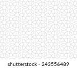 Stock vector seamless pattern of intersecting thin grey lines on white background abstract seamless ornament 243556489