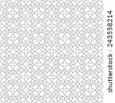 seamless pattern of... | Shutterstock .eps vector #243558214