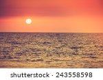 Sunrise Over The Ocean....