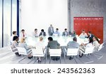business people team teamwork... | Shutterstock . vector #243562363