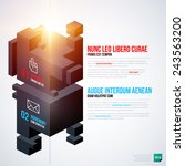 two isometric options template. ... | Shutterstock .eps vector #243563200