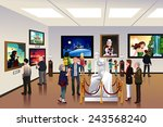 a vector illustration of people ... | Shutterstock .eps vector #243568240