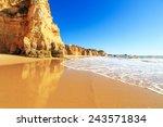 a view of a praia da rocha in... | Shutterstock . vector #243571834