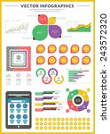 big pack of data visualization... | Shutterstock .eps vector #243572320