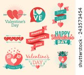 set of vector st. valentine's... | Shutterstock .eps vector #243573454