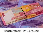 different rupiah banknotes from ...   Shutterstock . vector #243576820