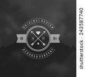 retro vintage insignia ... | Shutterstock .eps vector #243587740