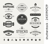 retro vintage insignias or... | Shutterstock .eps vector #243590929