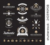 retro vintage insignias or... | Shutterstock .eps vector #243590938