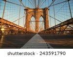 Vintage Brooklyn Bridge At...