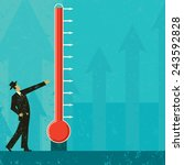 goal thermometer a man... | Shutterstock .eps vector #243592828