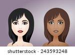 brunette  women  girls | Shutterstock .eps vector #243593248
