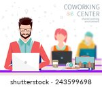 concept of the coworking center.... | Shutterstock .eps vector #243599698