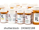 prescription rx medicine... | Shutterstock . vector #243602188