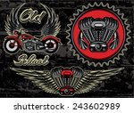 Vector Set Of Retro Emblems On...