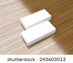 business cards mini blank... | Shutterstock . vector #243603013