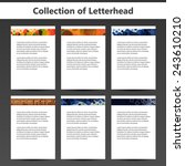 collection of letterheads for... | Shutterstock .eps vector #243610210