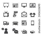 advertisement icons set | Shutterstock .eps vector #243610690
