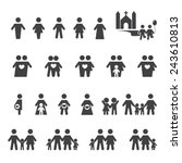 people and family icon | Shutterstock .eps vector #243610813