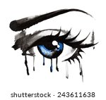 eyes hand drawn | Shutterstock .eps vector #243611638