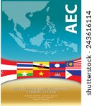 asean map dotted style... | Shutterstock .eps vector #243616114