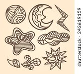 Set Of Stylized Elements Of Th...