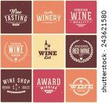 typographic wine themed design... | Shutterstock .eps vector #243621580