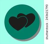 heart icon | Shutterstock .eps vector #243621790