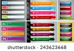 colorful modern text box... | Shutterstock .eps vector #243623668