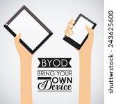 technology design over white... | Shutterstock .eps vector #243625600