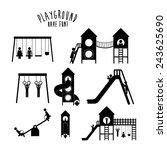 playground design over white... | Shutterstock .eps vector #243625690