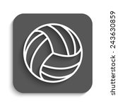 volleyball ball   vector icon... | Shutterstock .eps vector #243630859