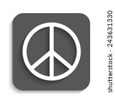 peace sign   vector icon with... | Shutterstock .eps vector #243631330