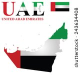 flag of united arab emirates... | Shutterstock .eps vector #243634408