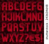 sans serif font  red 1 2 abc | Shutterstock .eps vector #243634648