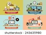 vector modern creative flat... | Shutterstock .eps vector #243635980