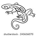 lizard tribal tattoo | Shutterstock . vector #243636070