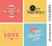 happy valentine's day.love type. | Shutterstock .eps vector #243638080